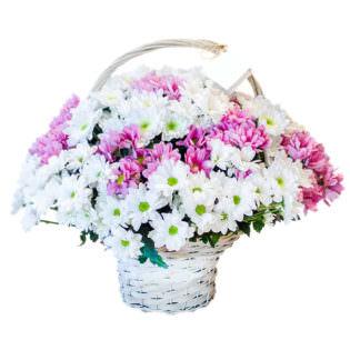 Цветы в корзинке «Малиновые сны»