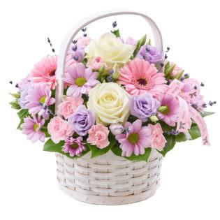 Цветы в корзинке «Восторг»