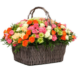 Цветы в корзинке «Встреча весны»